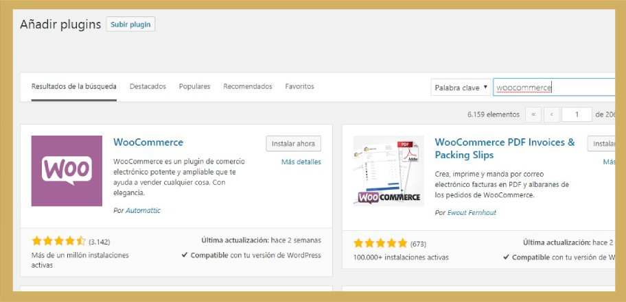 Instalación de WooCommerce en WordPress