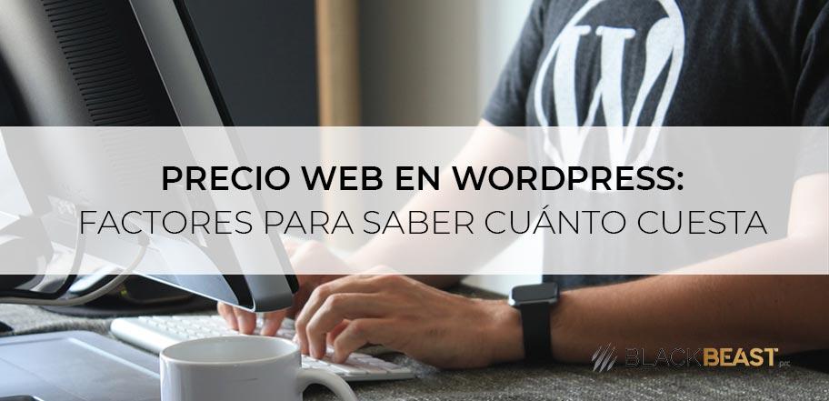 cuanto cuesta página web wordpress